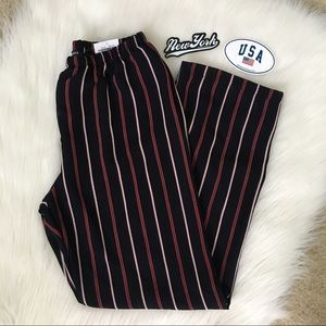NWT Brandy Melville Red & White Frankie Pants